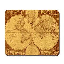 Exquisite Antique Atlas Map Mousepad