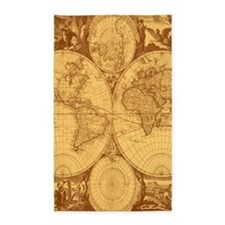 Exquisite Antique Atlas Map 3'x5' Area Rug