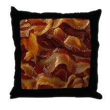 Bacon Close Up Throw Pillow