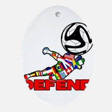 Goalie Defend Ornament (Oval)
