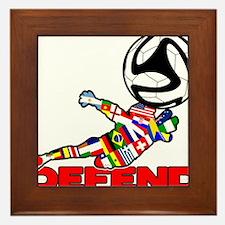 Goalie Defend Framed Tile
