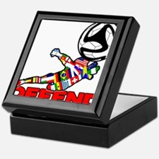 Goalie Defend Keepsake Box