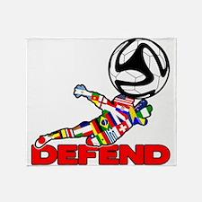 Goalie Defend Throw Blanket