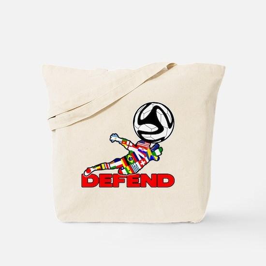 Goalie Defend Tote Bag