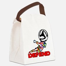 Goalie Defend Canvas Lunch Bag