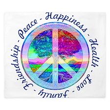 Peace Symbol King Duvet