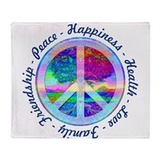 Peace Symbol Throw Blanket