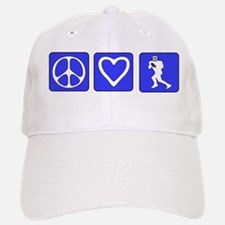 Peace Love Football Baseball Baseball Cap