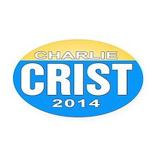 Unique Charlie crist Oval Car Magnet