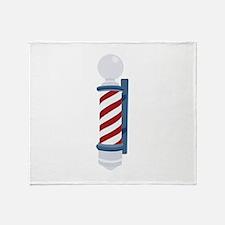 Barber Pole Throw Blanket