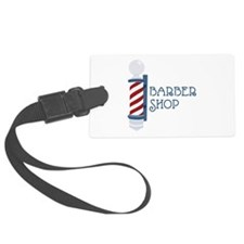 Barber Shop Luggage Tag