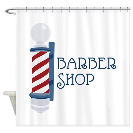 barber shop shower curtain by embroidery6