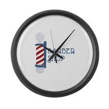 Barber Shop Large Wall Clock