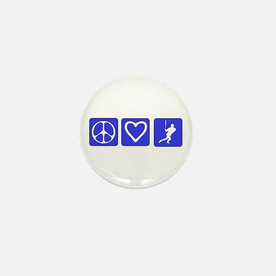 Peace Love Baseball Mini Button