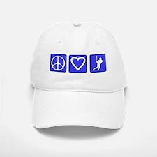 Peace Love Baseball Baseball Baseball Cap