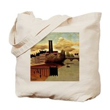Rousseau: View of Outskirts of Paris Tote Bag