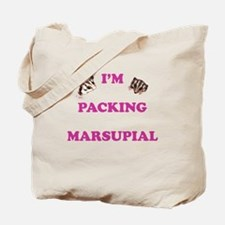 I'm Packing Marsupial Pink Tote Bag