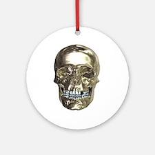 Chrome Skull Ornament (Round)