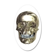 Chrome Skull Wall Decal