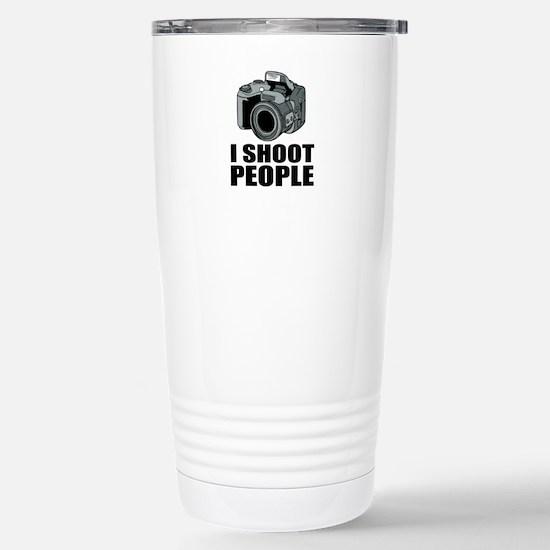 I Shoot People Photography Travel Mug