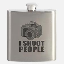 I Shoot People Photography Flask