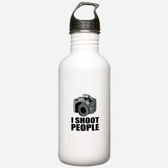I Shoot People Photography Water Bottle