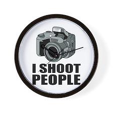 I Shoot People Photography Wall Clock