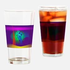 Deep Purple Contrast Drinking Glass