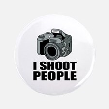 """I Shoot People Photography 3.5"""" Button (100 pack)"""