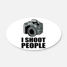 I Shoot People Photography Oval Car Magnet