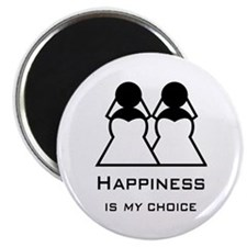 Happiness Is My Choice-Bride And Bride-Gay Magnets
