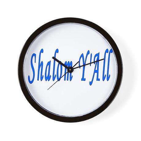 Jewish Shalom Y'ALL Wall Clock