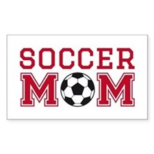 Soccer mom red Decal