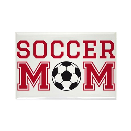 Soccer mom red Magnets