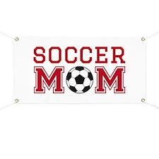 Soccer mom red Banner