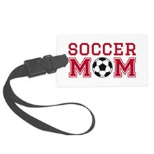 Soccer mom red Luggage Tag