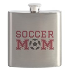 Soccer mom red Flask