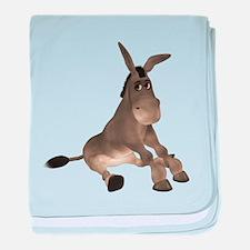 Donkey baby blanket