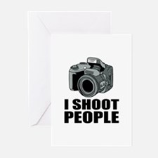 I Shoot People Photography Greeting Cards