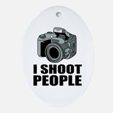 I Shoot People Photography Ornament (Oval)