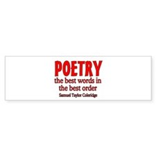 Poetry: Best Words Bumper Sticker
