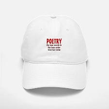 Poetry: Best Words Baseball Baseball Cap