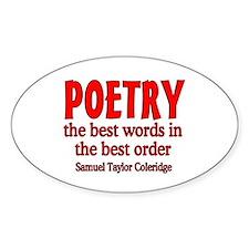 Poetry: Best Words Bumper Stickers