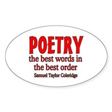 Poetry: Best Words Decal