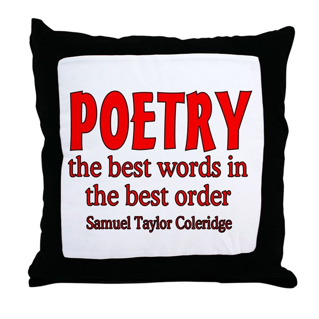 Poetry: Best Words Throw Pillow by reelyshop