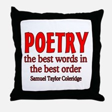 Poetry: Best Words Throw Pillow