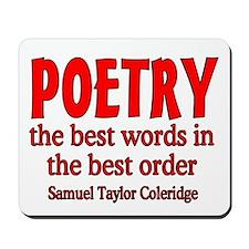 Poetry: Best Words Mousepad