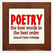 Poetry: Best Words Framed Tile