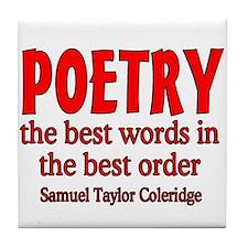 Poetry: Best Words Tile Coaster