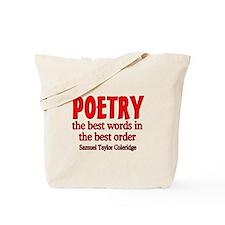 Poetry: Best Words Tote Bag